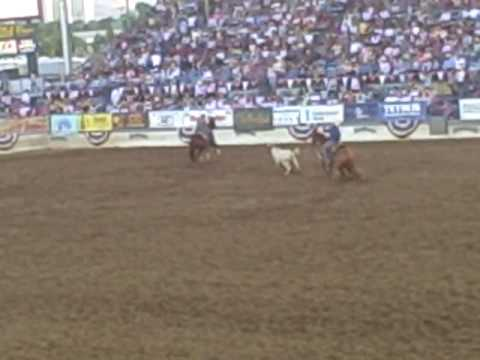 Joe Burk Higgins Craig Branham Team Roping Reno Rodeo 2009