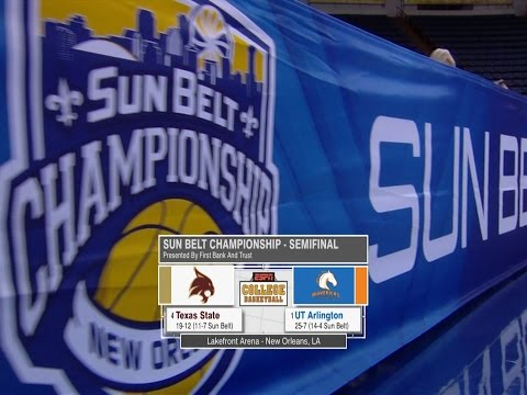 2017 Sun Belt Conference Men's Basketball Championship: Semifinal Highlights UTA vs Texas State