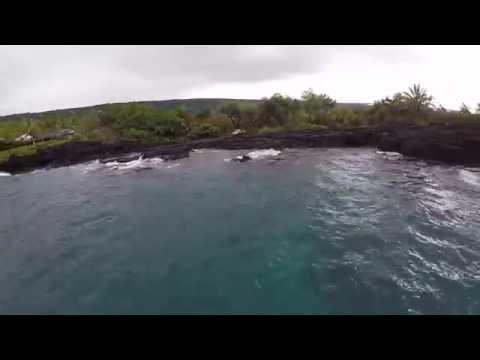 Amazing aerial ocean views in Hawaii