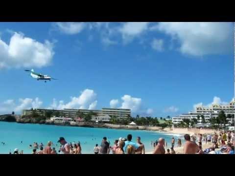 Landung Anguilla Air Services Britten-Norman BN-2 Islander Princess Juliana Airport St. Maarten