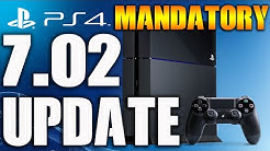 PS4 7.02 Update System Software is Mandatory Firmware