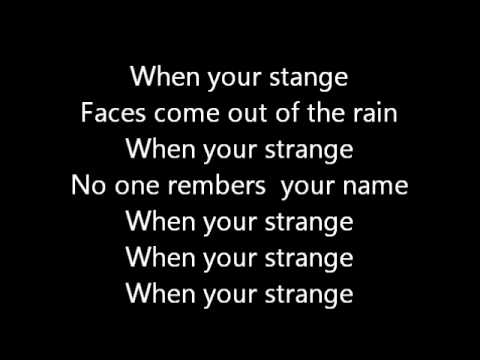 the doors people are strange lyrics