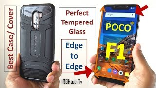 Poco F1 Perfect Edge to Edge Tempered Glass and Best Back Cover