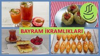 Bayram İkramlıkları: Badempare - Zeytinyağlı Dolma - Şipşak Su Böreği - Buzlu Çay
