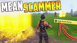 MEAN Scammer MAKES Innocent KID CRY By STEALING His Guns! - Fortnite Save The World