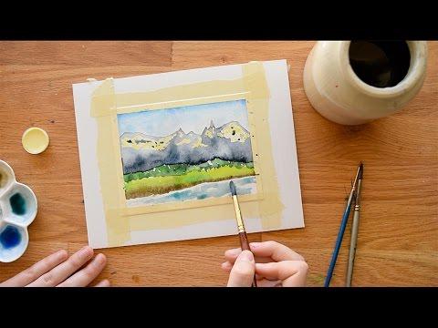 Watercolor Masking Techniques ~ Fluid, Tape, etc.