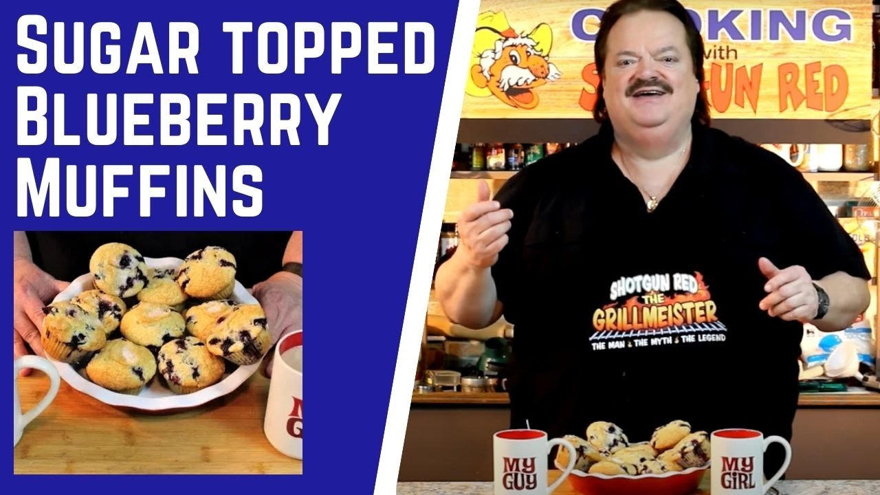 Super Moist Blueberry Muffins Recipe with Sugar Tops