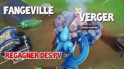 Regagner des PV ou appliquer du bouclier à Fangeville ou au Verger, Défis domination locale FORTNITE