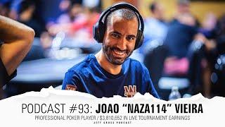 """Podcast #93: João """"Naza114"""" Vieira /Pro Poker Player /Winamax Ambassador/Over $3.8M in MTT earnings"""