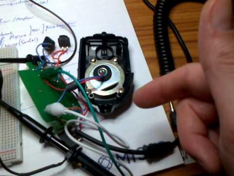 Elecraft MH3 mic into oscilloscope on