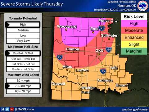 Severe Weather Update 12:15 PM 5/18/17
