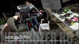 Tekno EB410 Front Roll Center Adjustment and Practice Laps - Netcruzer RC
