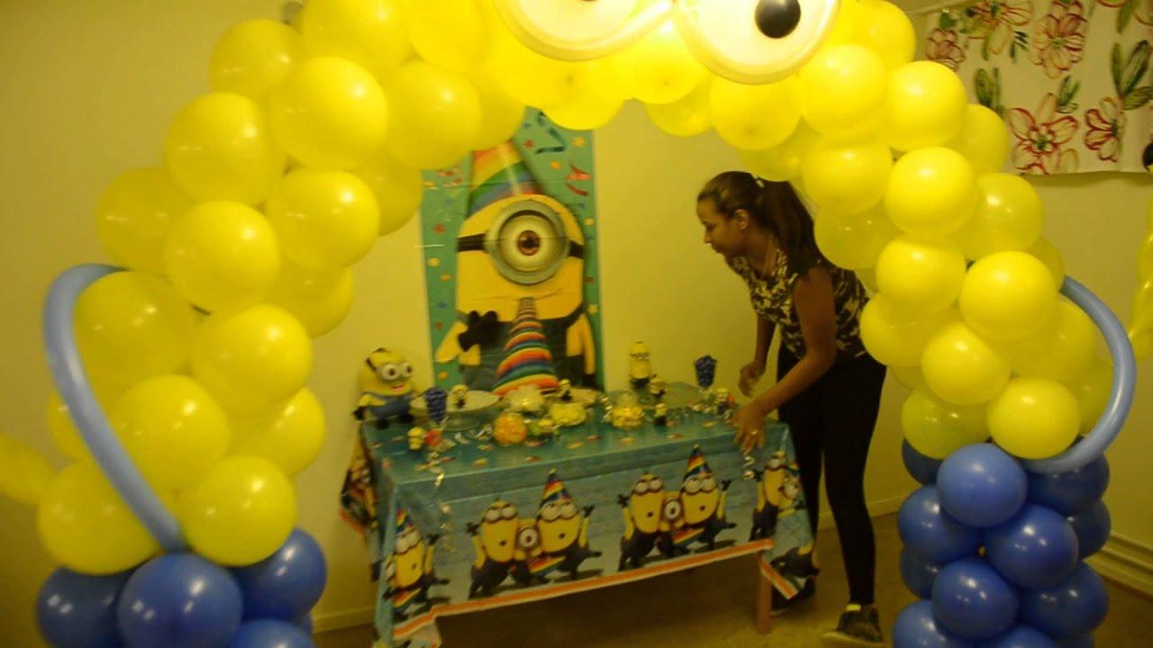 Como decorar una fiesta de minions youtube - Como decorar una mesa para una fiesta ...