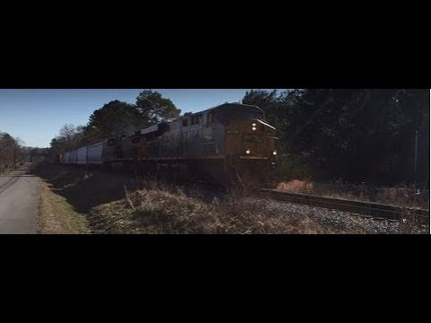 csx-q580-short-manifest-freight-train-kingston,-ga-1/15/2018-©