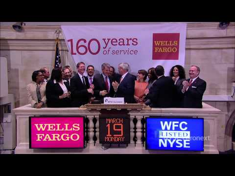Wells Fargo & Company celebrates 160th anniversary and rings the NYSE Closing Bell