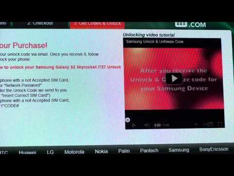 Samsung Galaxy S2 Skyrocket AT&T How to Unlock by Unlockphonenetwork.com.m2ts