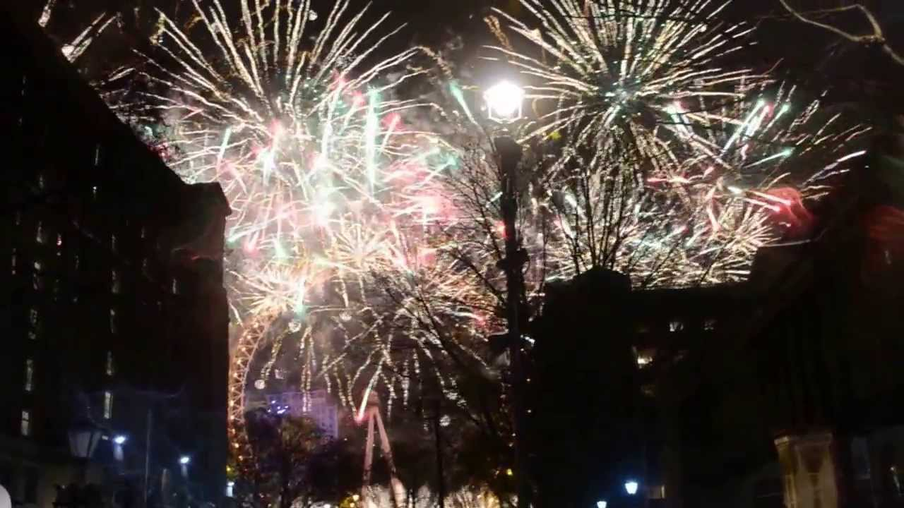 London new year's eve fireworks 2014 - YouTube