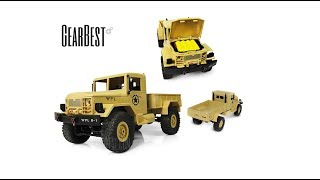 GearBest WPL B - 1 1:16 Mini Off-road RC Military Truck Unboxing