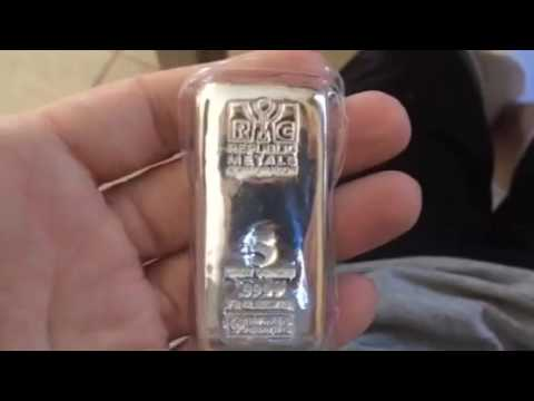 5oz Rmc Silver Cast Bar Youtube