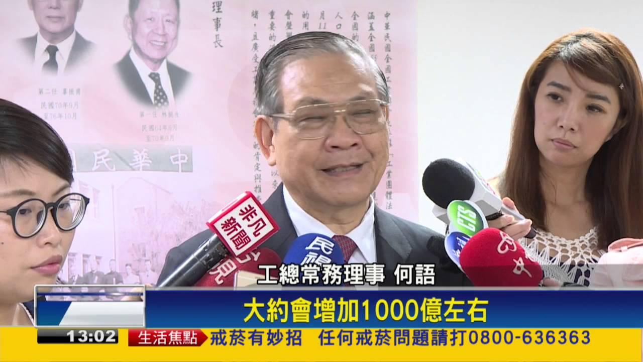 勞保投保上限 將調高到58100元-民視新聞 - YouTube