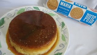 Quesillo de galleta María sin leche condensada flan de galleta