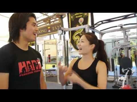 HARD personal training session with Juju Chan & Maria Tran