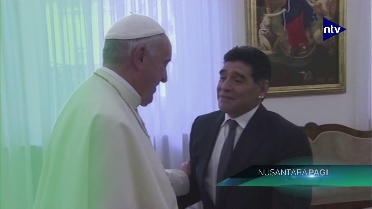 Pernah Diberi Jersey, Paus Ungkapkan Duka Mendalam Atas Wafatnya Maradona