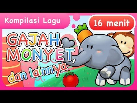 Lagu Anak | Gajah, Monyet dan lainnya