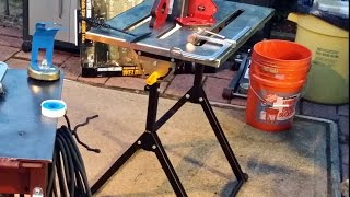 Harbor Freight Folding Welding Table Use And Assembly.