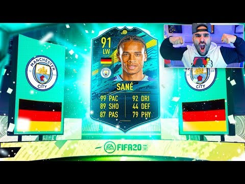 OMFG I GOT 91 LEROY SANE HE IS SO OVERPOWERED! FIFA 20 Ultimate Team