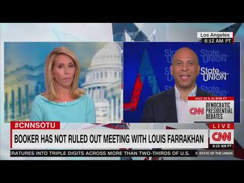 Cory Booker says he 'will not sit down with Louis Farrakhan'