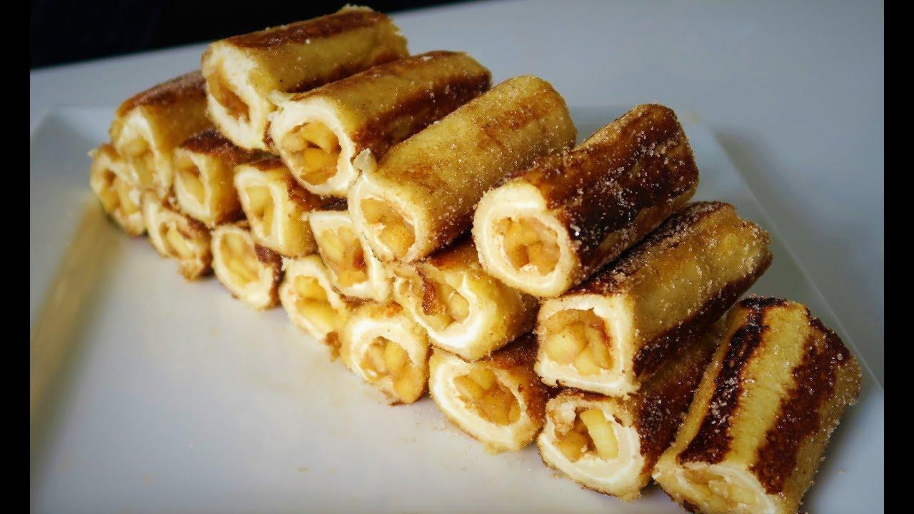 Pain Perdu Au Nutella recette 94: pain perdu roulé pommes & cannelle / cinnamon apple french toast