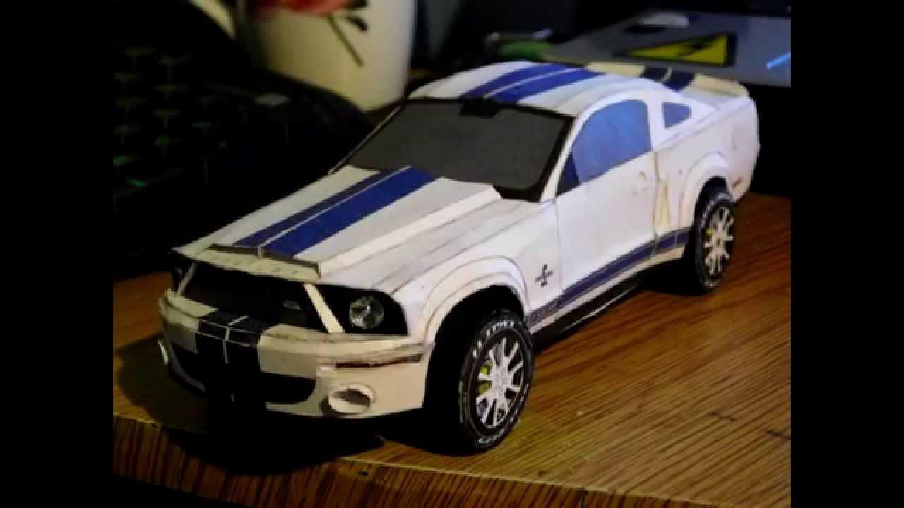 Papercraft [VašekVlog] Ford Mustang Shelby GT500KR |Paper Model