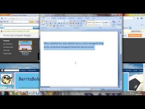 Cara Pembuatan Blogspot Gadget HTML Javascript, Laman Baru Oleh Martinus Dan Pak Ronald Hutauruk
