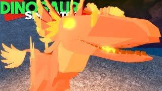 Dinosaur Simulator (Roblox) - Phoenix Achillobator, Carnívoro de Fogo! - (#102) (Gameplay)