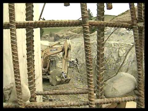 Opuha Dam construction South Canterbury part 2