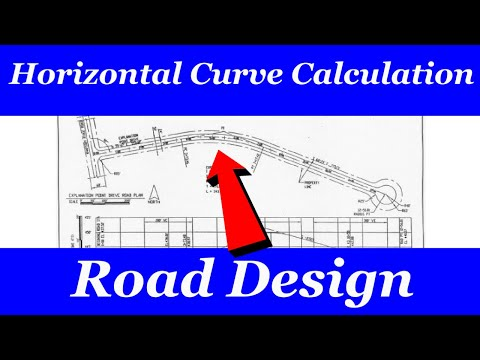 horizontal curve calculations example
