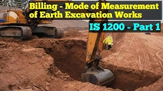 IS 1200 Part 1 - Mode of Measurement of Earth Work