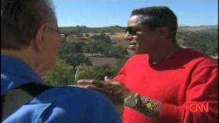CNN Larry King Live 2009 Michael Jackson Neverland Grounds with Jermaine