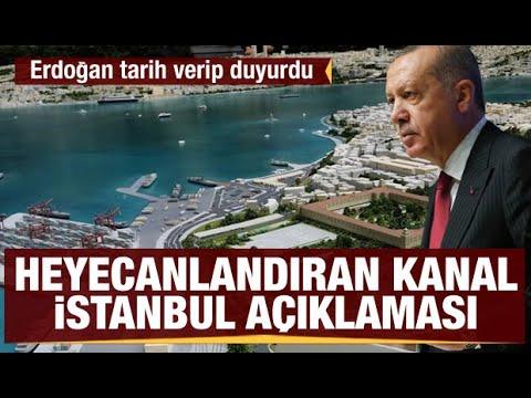 Kanal istanbul projesinin  ihale tarihi belli oldu : Recep Tayyip Erdoğan açıkla