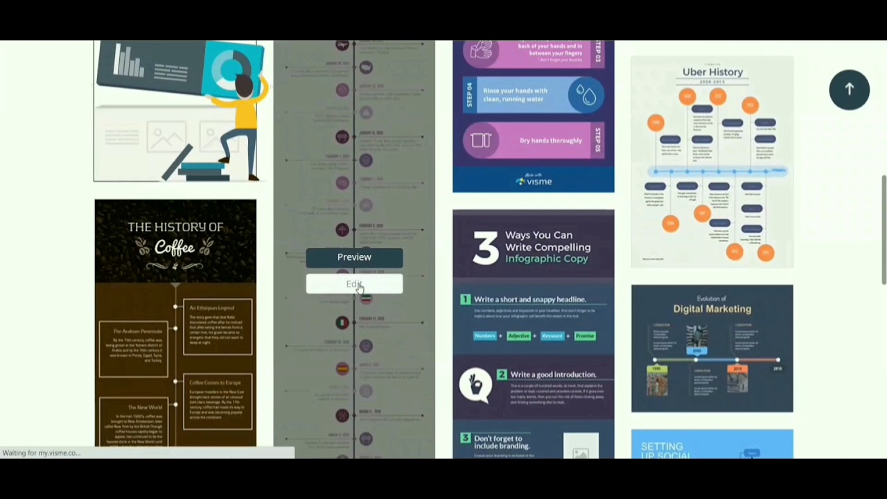 Visme 1: Creating & Sharing Your Infographic