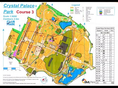 SLOW Crystal Palace Park sprint orienteering event 9 September 2016