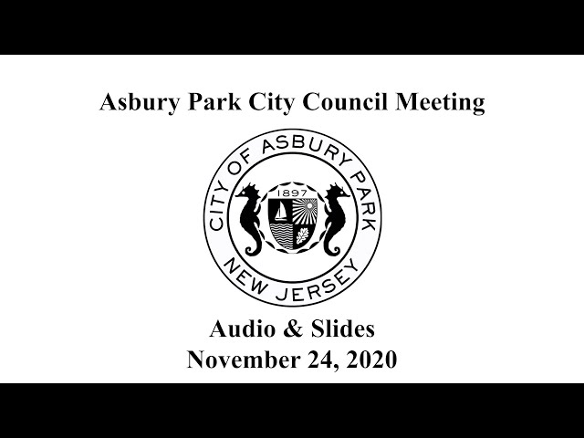 Asbury Park City Council Meeting - November 24, 2020