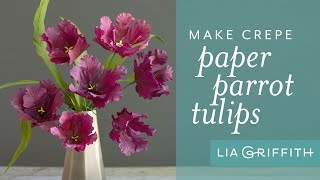How To Make A Paper Tulip - Parrot Variety