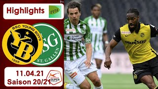 Highlights: BSC Young Boys vs FC St.Gallen (11.04.21)