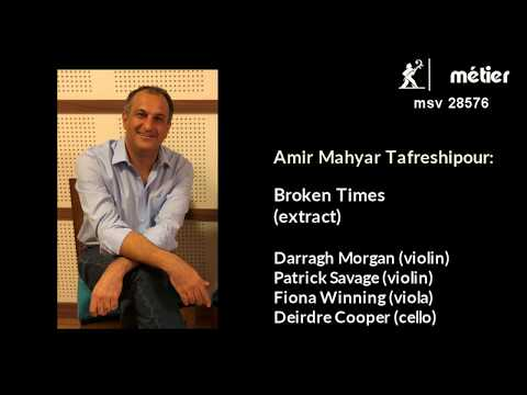 'Broken Times' quartet by Amir...