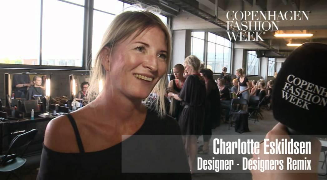 Charlotte Eskildsen Designer Designers Remix Backstage Interview Ss12 Youtube