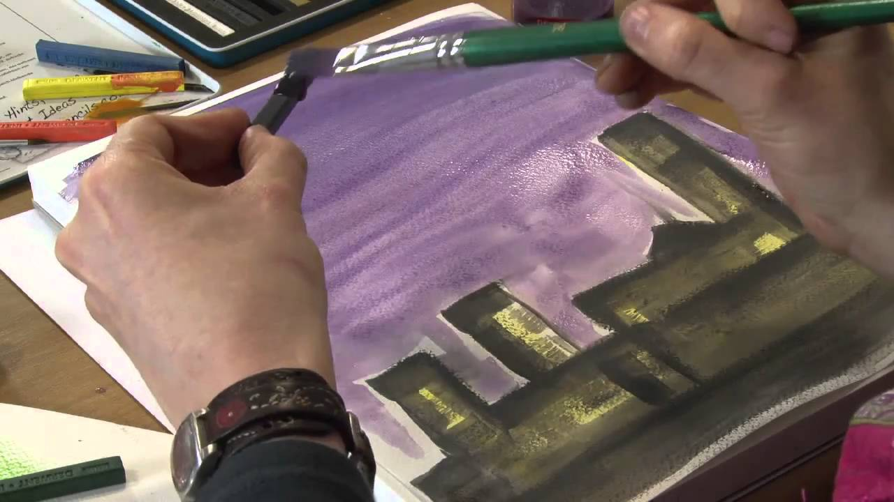 How To Use Derwent Inktense Blocks