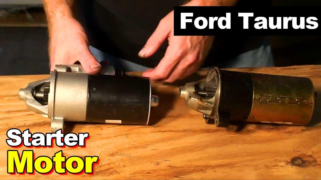 2001 Ford Taurus Engine Diagram S10 Blazer Radio Wiring 2003 Starter Motor Youtube