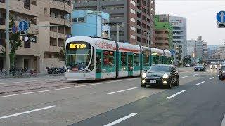 広島電鉄5100形5110号『広響電車』日赤病院前〜広電本社前